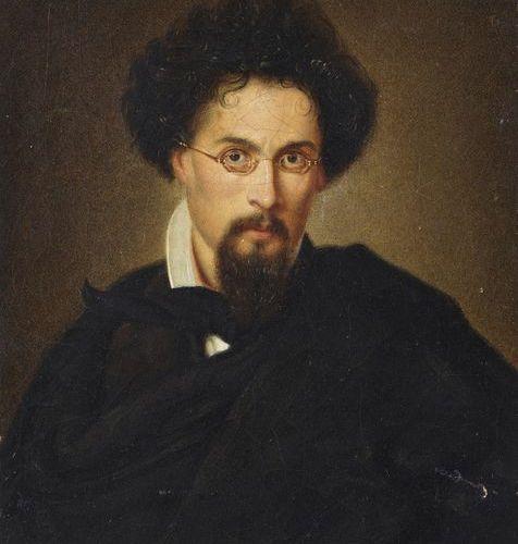ARTISTA DEL XIX SECOLO 19th century artist Portrait of man with glasses. ARTIST …