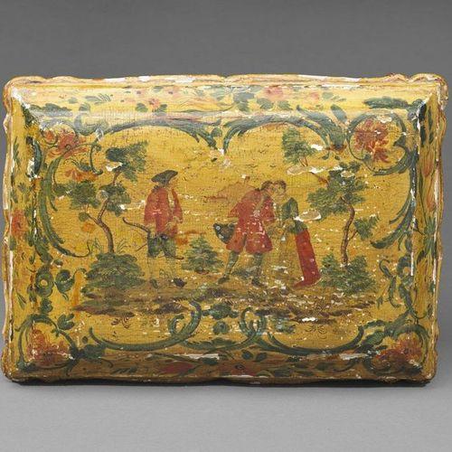 MANIFATTURA VENEZIANA DEL XVIII SECOLO Lacquered wooden box. 18TH CENTURY VENETI…