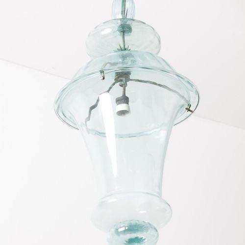 CAPPELLIN M.V.M Plafonnier. Métal et verre de Murano. Cm 35,00 x 110,00 x 35,00.…