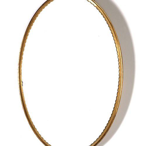 Manifattura Italiana MANIFATTURA ITALIANA 镜子。黄铜和镜子。Cm 45,00 x 70,00. 1950年代。