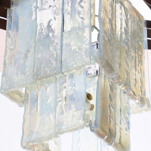 AV MAZZEGA Grande lampe à suspension. Verre et laiton. Cm 146.00 x 110.00 x 146.…