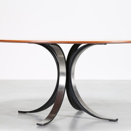 OSVALDO BORSANI (1911 1985) & EUGENIO GERLI (n. 1923) Table T69 pour Tecno. Bois…