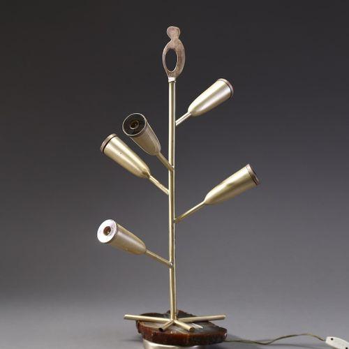 CARBONI ERBERTO (1899 1984) ERBERTO attribué. Lampe de table . Argent et marbre …