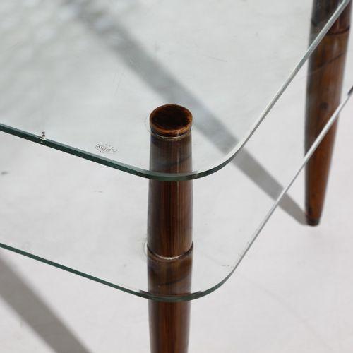 PAULUCCI ENRICO (1901 1999) ENRICO Table basse. Bois et cristal moulu. Cm 83.00 …