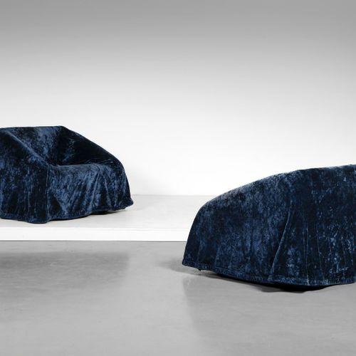TAKAHAMA KAZUHIDE (n. 1930) KAZUHIDE Paire de fauteuils Mantilla, fabriqués par …