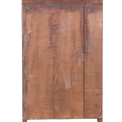 Petite unité murale et armoire rustique. Fin du 19ème siècle. Fabriqué en bois d…