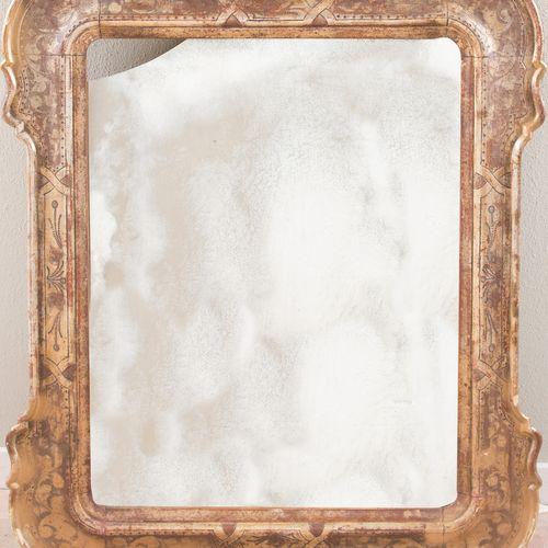 Plateau de miroir. Italie du Nord, milieu du XIXe siècle. Fabriqué en bois doré.…