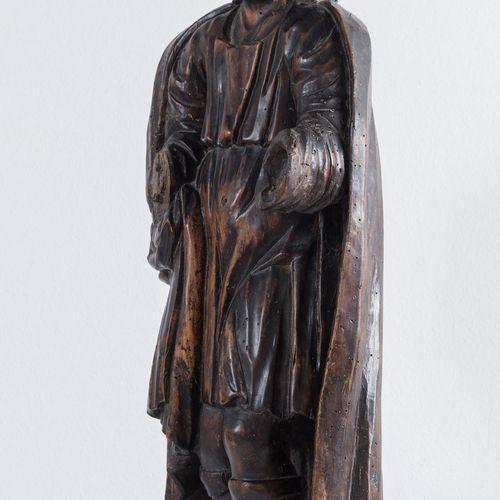 """""""Saint"""". Sculpture en bois. Emilia, première moitié du XVIIIe siècle. A l'origin…"""