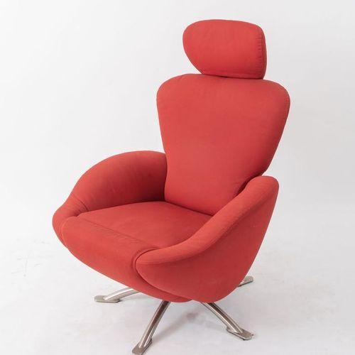 TOSHIYUKI KITA 钢制扶手椅,采用聚氨酯泡沫,型号K10 Dodo。由意大利Cassina公司制造,2000年。Cm 106x90x78。