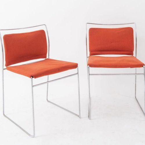 KAZUHIDE TAKAHAMA 四把金属和织物椅子 Tulu模型。Simon Gavina Ultramobile,意大利,1968年,每个47x50x73…