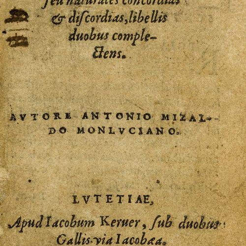 Antoine Mizauld 医学。Mizauld (Antoine) Memorabilium aliquot naturae arcanorum sylv…