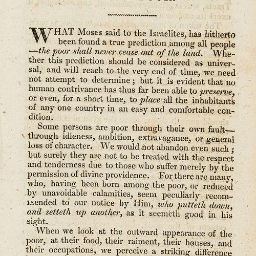 AUCUNE RÉSERVE Pamphlets The Duties and encoragements of the poor, A. Applegath …