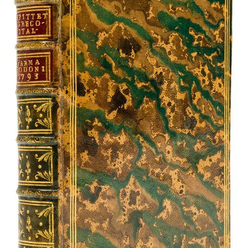 EPICTETUS Bodoni Epictetus. Epiktetou Encheiridion [graece], 2 parties en 1 vol,…