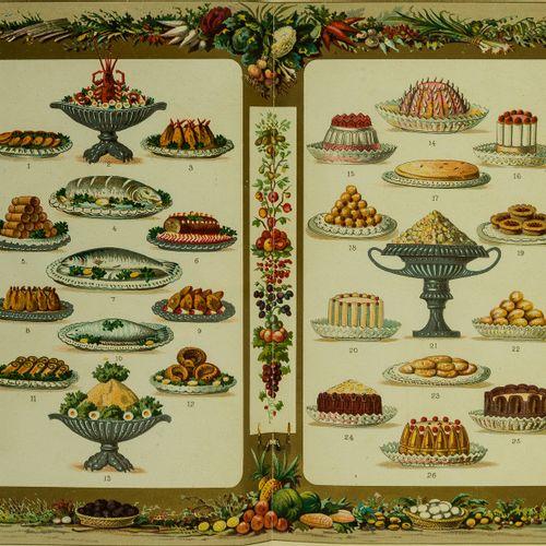 """""""The G.C."""" 烹饪。 """"G.C.""""。圆桌》。烹饪笔记,以及简单的食谱,包括每个月的精选餐单,第一版,文中有木刻插图,末尾有8页广告,缺少半标题,书脊脚下…"""