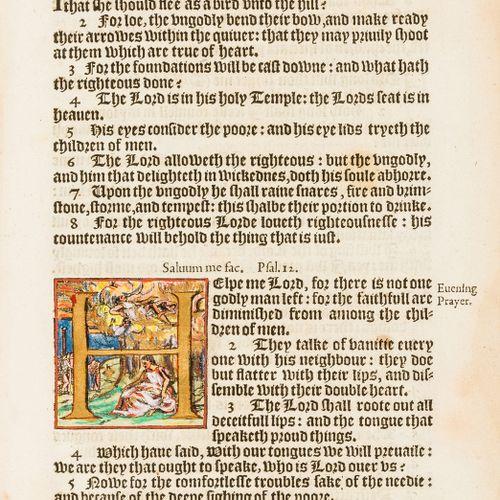 诗篇,英文 [The Psalmes of David],整理。A K⁸,缺少标题,D⁵,F¹ & F⁴,标题由19世纪的手稿提供,一些早期或当代手绘的首字母,…