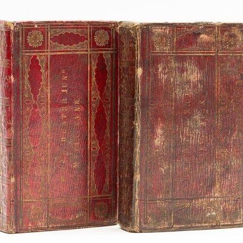 English Bible Bible (anglaise) The Holy Bible, 2 vol., ex libris manuscrit sur l…