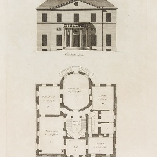 Sir John Soane Soane (Sir John) Plans, Elevations and Sections of Buildings, pre…
