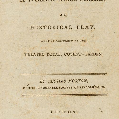Thomas Morton 美洲。 莫顿(托马斯)哥伦布:或者,发现的世界。一部历史剧。在Covent Garden的皇家剧院演出,第一版,最后的尾声部分,缺少…