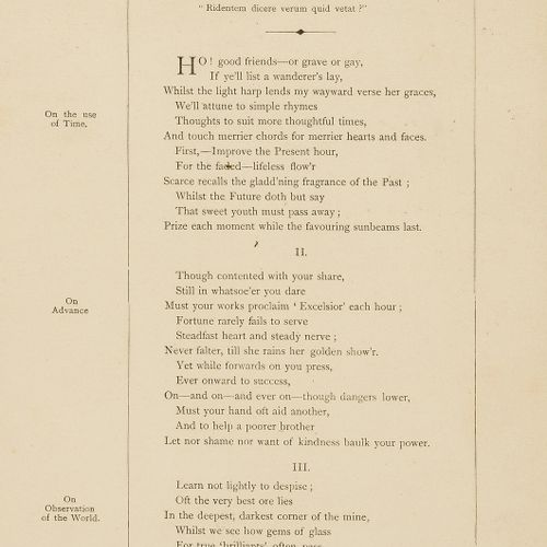 F.K. H. Broadside poem. H. (F.K.) A Stray leaf from the not book of a laughing p…