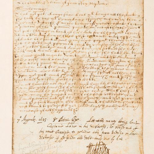 Jacobean Petition. 米德尔塞克斯(Lionel Cranfield,第一任伯爵,商人、金融家和政府部长,1575 1645年)和Robert …