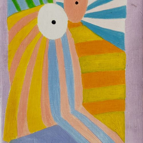 AYECH HEINEN BETTINA  milano (milano) 1938    Senza titolo  1970    Olio su tela…
