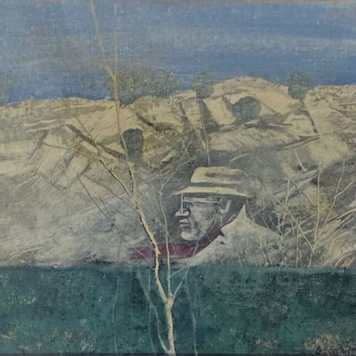 Giuseppe Banchieri BANCHIERI GIUSEPPE  Milano (Mi) 1927    Figura nel paesaggio …