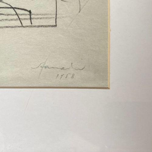 Emilio Scanavino SCANAVINO EMILIO  Genova (Ge) 1922    Tramatura  1958    Mista …