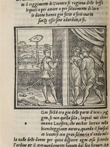 * [Livre illustré du XVIe siècle]. BOCCACE. Il Decamerone di M. Giovanni Boccacc…