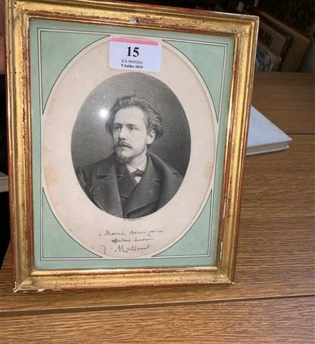 [MASSENET (Jules)]. MAUROU. Portrait gravé de Jules Massenet d'après Maurou. Ex …