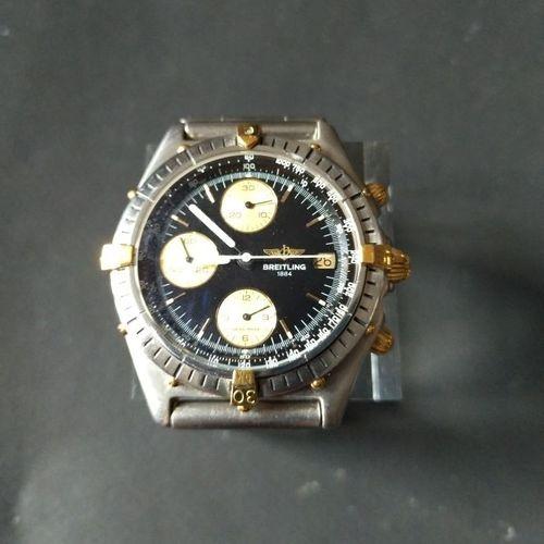 BREITLING  Ref. 81.950. No. 33164.  Chronographe bracelet en acier. Lunette tour…