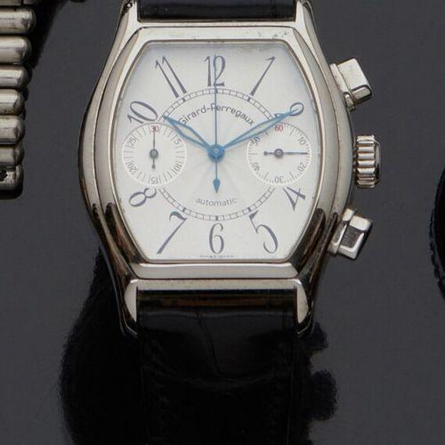 GIRARD PERREGAUX  Ref. 2750. No. 4627.  Chronographe bracelet en acier. Boîtier …