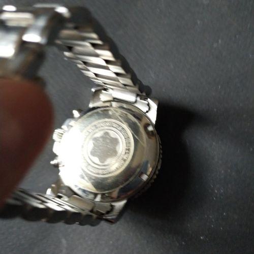 Meistertuck  Ref. 7034. No. PL 258722.  Chronographe bracelet en acier. Lunette …