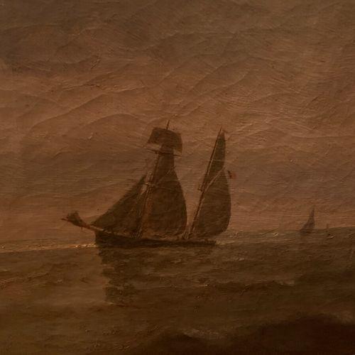 Ecole moderne  Marine  Huile sur toile, signée N. Paumen et datée en bas à droit…