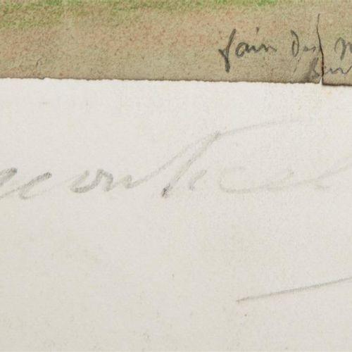 """Attribué à MONTICELLI Adolphe (1824 1886) """"Couple et son chien"""", 1854 Mine de pl…"""