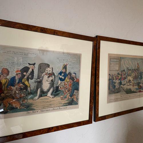 Deux gravures satiriques sur l'Angleterre
