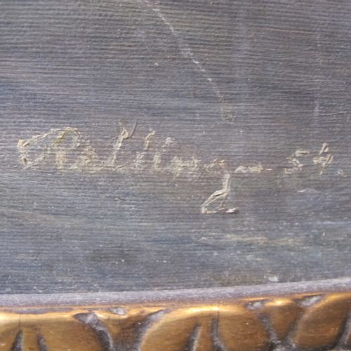 """ROLLINGER  """"Le kobenhavn""""  Toile signée en bas à droite et daté (18) 54  Haut. :…"""
