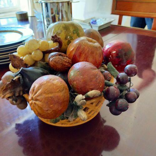 Corbeille de fruit en trompe l'oeil