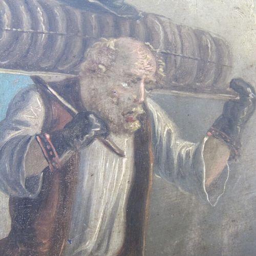 ORLOWSKY ALEXANDER (1777 1832) (attribué à)  Le marchand de fromage  huile sur c…