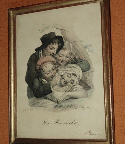François DELPECH (1778 1825) d'après Léopold BOILLY  Suite de 18 gravures en cou…