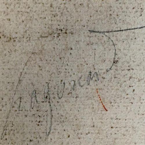 """École française du XVIIIe siècle  """"Académie d'homme allongé""""  Sanguine.  Haut. :…"""