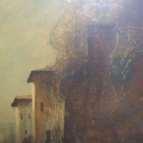 FILIPPA Corrado (1893 1972)  Paysage  Huile sur isorel signée en bas à gauche  4…