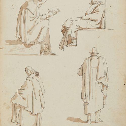 Attribué à Abel de PUJOL (Valenciennes 1785 Paris 1861)  Quatre esquisses de fig…