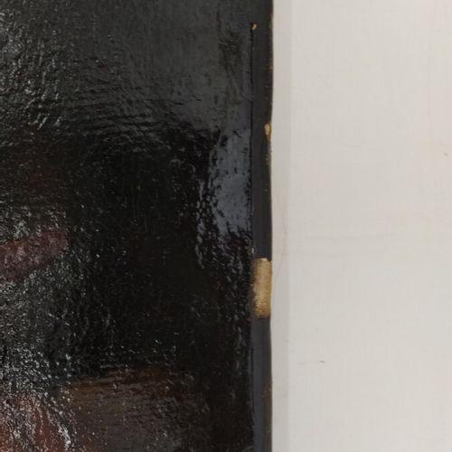 Ecole caravagesque tardive  L'entremetteuse  Huile sur toile  81,5 x 57 cm  (acc…