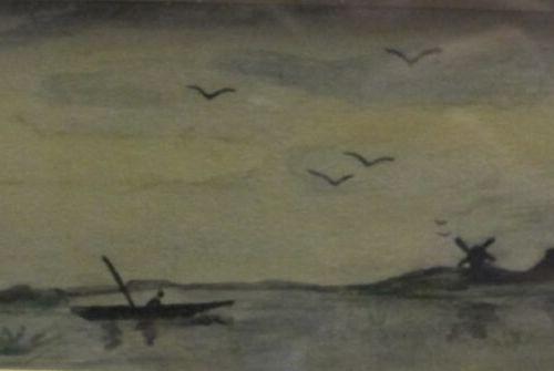 ECOLE MODERNE  Ensemble de deux marines  Huile sur panneau, 20,5 x 32 cm  Huile …