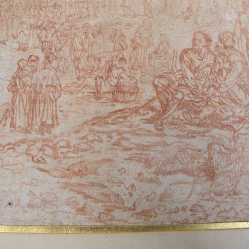 Ecole du Nord, XVIIème siècle  Le Christ prêchant dans un port flamand  contre é…