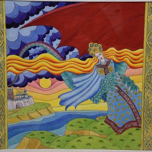 "TCHERNYCHEV Vladimir (né en 1952)  ""Illustrations de contes populaires""  Ensembl…"