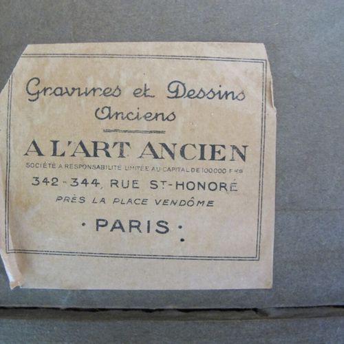 Ecole de Jean Pillement,  Chaumière  Pastel et crayon noir,  Haut. : 11,5 ; Larg…