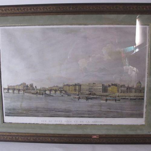DAMAME DEMARTRAIS Michel François  Paris, vue du Pont Neuf et de la Monnaie  Pl.…