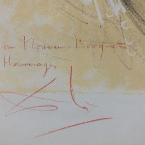 """D'après Salvador DALI (1904 1989). """"Léonard de Vinci"""". Lithographie par Sorlier.…"""