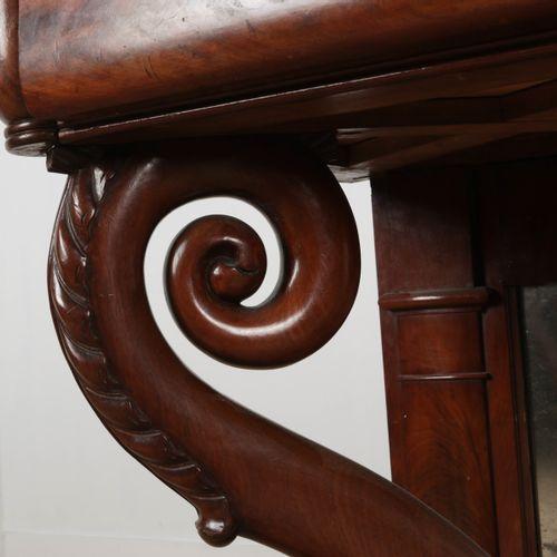 Trumeau en acajou vers 1870 de style Louis XV, 89x126x53 cm.